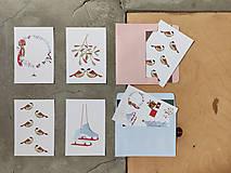 Grafika - Vianočná kartička, láska - 12628555_
