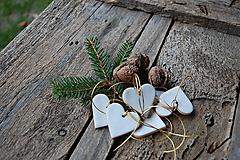 Dekorácie - Keramické srdiečko biele - 12626603_