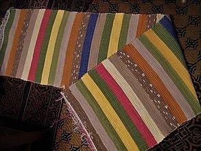 Úžitkový textil - Tkaný koberec pestrofarebný 12 - 12632292_