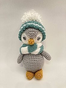 Hračky - Tučniak -háčkovaná hračka/dekorácia - 12631599_