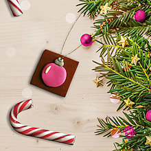 Dekorácie - FIMO vianočné ozdoby čokoládky (vianočná guľa) - 12629951_