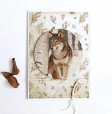 Papiernictvo - Pohľadnica, vlk - 12634002_