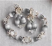 Sady šperkov - Mačacie oko- strieborná - 12635292_