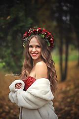 Veľký vianočný kvetinový venček