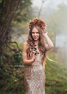 Ozdoby do vlasov - Koruna Jesenná kráľovná - 12632708_
