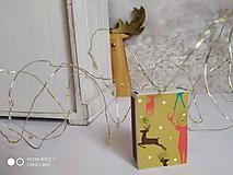 Iné - Vianočný jeleň,  zápalky nie len pre poľovníka - 12633468_
