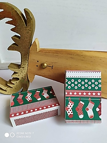 Svietidlá a sviečky - Vianočné čižmičky na zápalkach - 12633399_