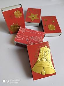 Papiernictvo - Červeno-zlaté zápalky Feng Shui - 12633427_