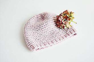 Čiapky - Ručne pletená vlnená čiapka - 12636268_