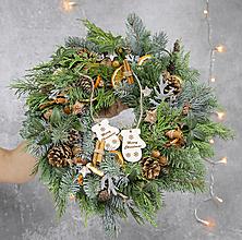 Dekorácie - Vianočný veniec na dvere - 12636425_