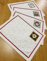 Úžitkový textil - Vianočné prestieranie + štóla - 12635585_