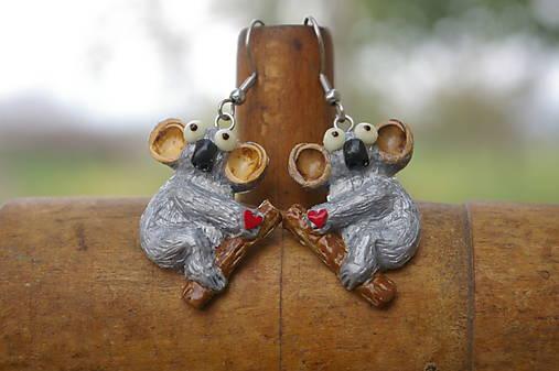 Náušnice Koala čerešňa