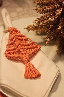Úžitkový textil - Vianočná sada vintage makrame krúžkov - 12635302_
