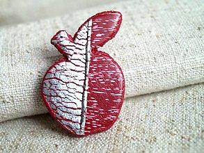 Odznaky/Brošne - jabĺčko zimušné od Marušky - 12635359_