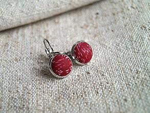 Náušnice - malé červené zimušné - 12635583_
