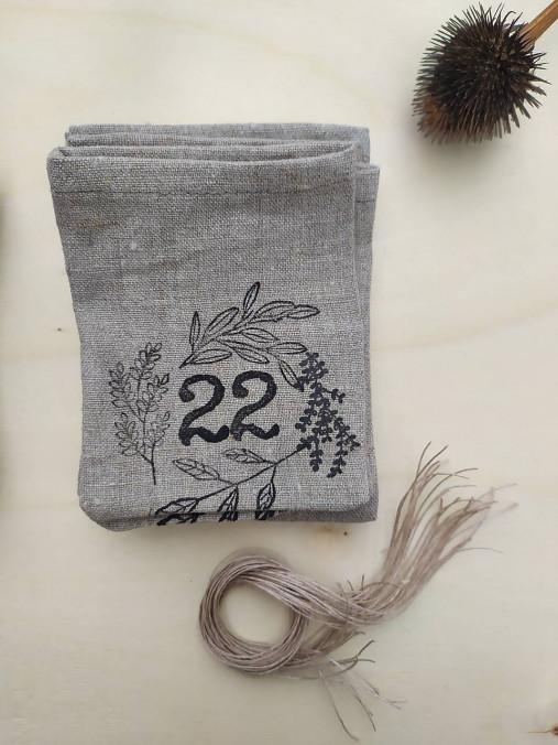 Adventný kalendár venček čierny II.