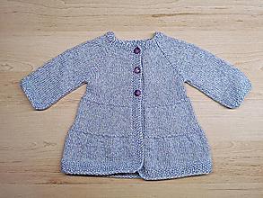 Detské oblečenie - Pletený kabátik - 12635757_