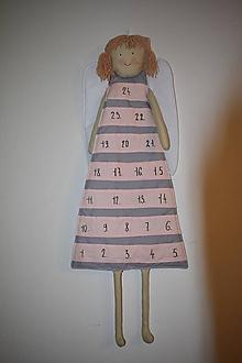 Dekorácie - Adventný kalendár anjel- dievča - 12634114_