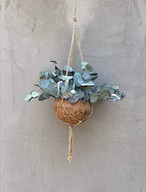 Boho závesná dekorácia - eukalyptus