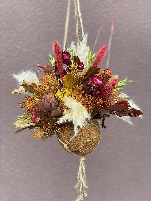 Boho závesná dekorácia - jeseň