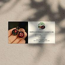 Darčekové poukážky - Darčekový poukaz na ručne vyšívané šperky (Darčekový poukaz v hodnote 20€) - 12635927_