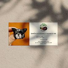 Darčekové poukážky - Darčekový poukaz na ručne vyšívané šperky (Darčekový poukaz v hodnote 45€) - 12635932_