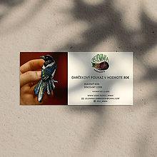 Darčekové poukážky - Darčekový poukaz na ručne vyšívané šperky (Darčekový poukaz v hodnote 80€) - 12635940_
