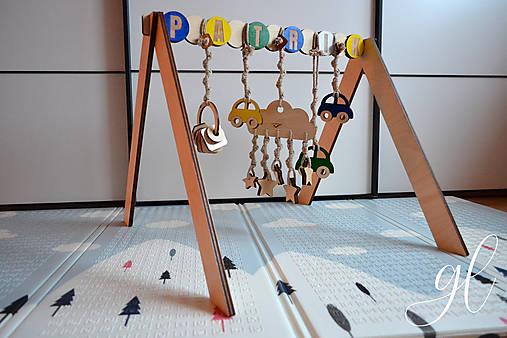 Drevená hrázdička pre deti (hrázdička bez hračiek s menom)
