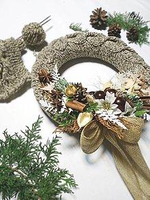 Dekorácie - Veniec pletený - Vianoce - 12632762_
