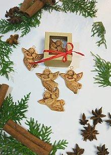 Dekorácie - Vianočné ozdoby na stromček - anjel - 12632815_