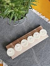 Svietidlá a sviečky - Prírodné čajové sviečky | zero waste set 6 ks - 12634189_