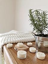 Svietidlá a sviečky - Prírodné čajové sviečky   zero waste set 6 ks - 12634202_