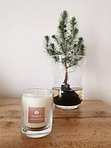 Svietidlá a sviečky - Prírodná sviečka v skle | vegan - 12635269_