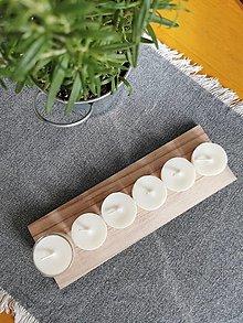 Svietidlá a sviečky - Prírodné čajové sviečky   zero waste set 6 ks - 12634189_