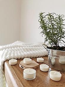 Svietidlá a sviečky - Prírodné čajové sviečky | zero waste set 6 ks - 12634202_