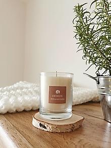 Svietidlá a sviečky - Prírodná sviečka v skle | vegan - 12635270_
