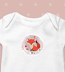 """Detské oblečenie - Detské body """"Líška"""" - krátkorukávové / dlhorukávové - 12633228_"""