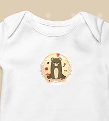 """Detské oblečenie - Detské body """"Medveď"""" - krátkorukávové / dlhorukávové - 12633781_"""