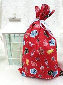 Úžitkový textil - Mikulášske vrecko - 12635554_
