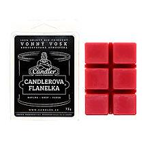 Svietidlá a sviečky - Vonný vosk Candlerova flanelka, 75g - 12637258_
