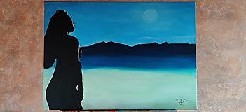Obrazy - Fosforový (svietiaci) obraz - Brunhilda - 12633889_