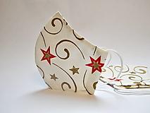 Tvarované dvojvrstvové rúško - Vianočné hviezdy