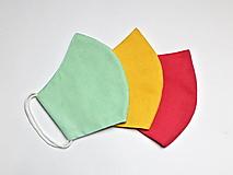 Rúška - Tvarované dvojvrstvové rúška - obojstranné jednofarebné (11 cm - Ružová) - 12636485_