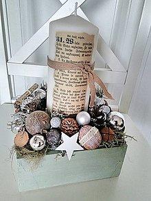 Dekorácie - Vianočný svietnik - 12636876_