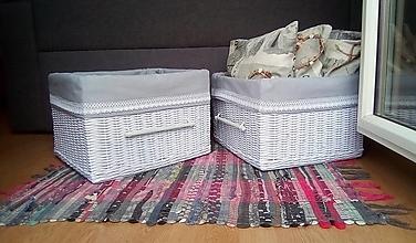 Košíky - Koše šatníkové JANKA / ks - 12634031_