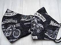 """Rúška - Bavlnené rúška  """"Born To Ride"""" - 12638885_"""