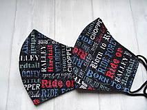 """Rúška - Bavlnené rúška  """"Born To Ride"""" - 12638898_"""