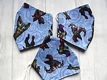 Rúška - Bavlnené rúška... detské ( 5-10 rokov) rôzne vzory - 12639420_