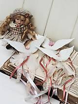 Dekorácie - Shabby chic anjelské krídla na stromček (maxi) - 12641009_