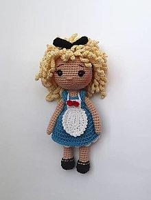 Hračky - Bábika Alica s oblečením. - 12640338_